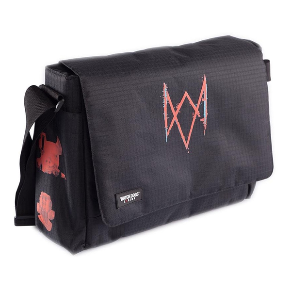 WATCH DOGS Legion Patches Messenger Bag - Black