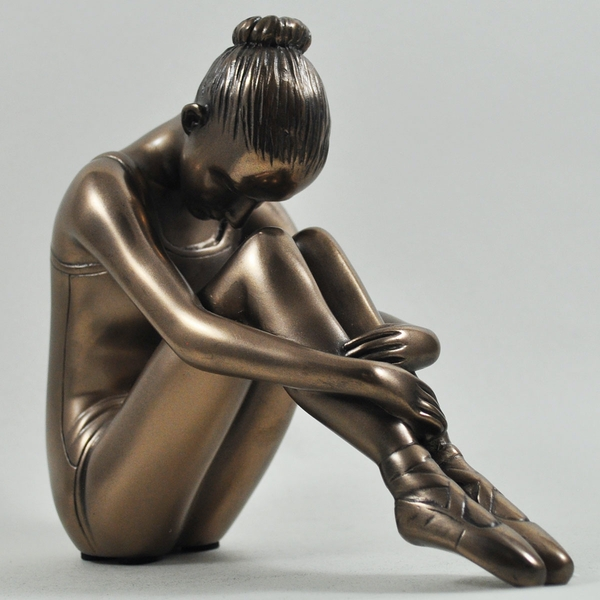 Preparing The Mind Cold Cast Bronze Sculpture 14cm