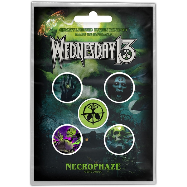 Wednesday 13 - Necrophaze Button Badge Pack
