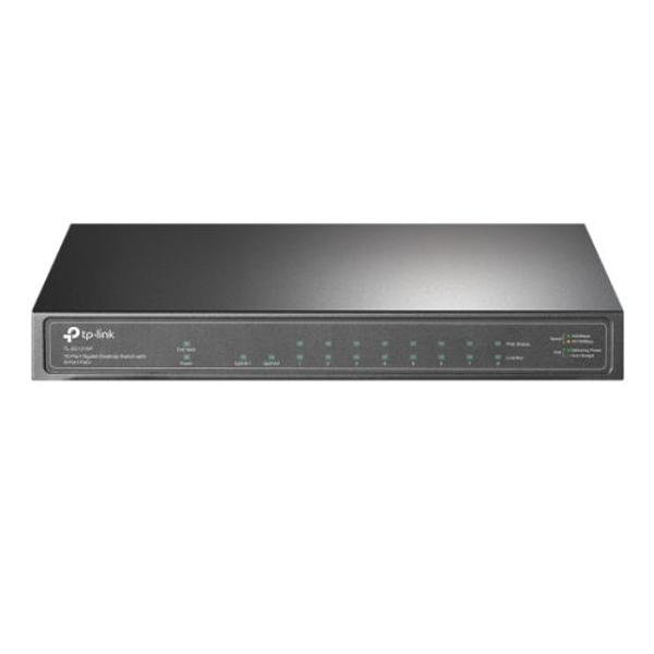 TP-Link TL-SG1210P 10-Port Gigabit Desktop Switch with 8 Port PoE+ Ethernet Switch UK Plug