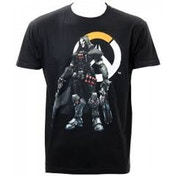 Overwatch Mens Reaper & Logo Black Medium T-Shirt