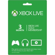 Xbox Live Gold 3 Months Membership Card Xbox 360 and Xbox One