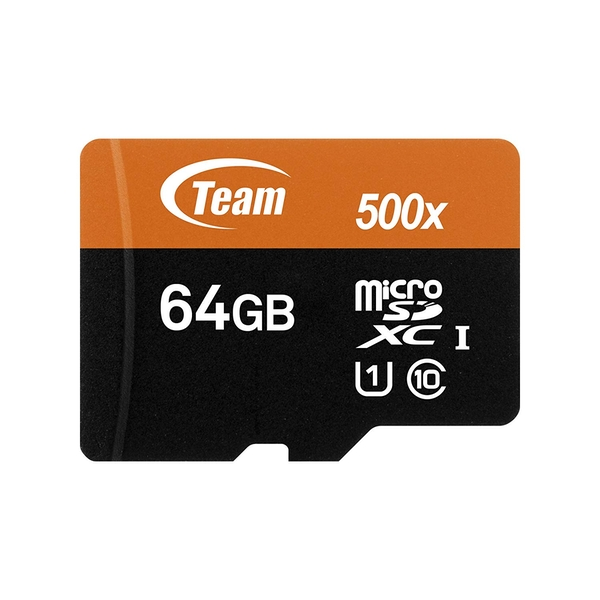Team 64GB Micro SDXC Class 10 Flash Card with Adapter