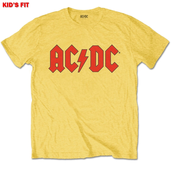AC/DC - Logo Kids 3 - 4 Years T-Shirt - Yellow