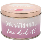 Congratulations Candle Tin