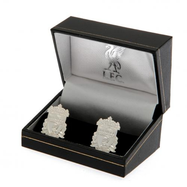 Liverpool FC Silver Plated Formed Cufflinks