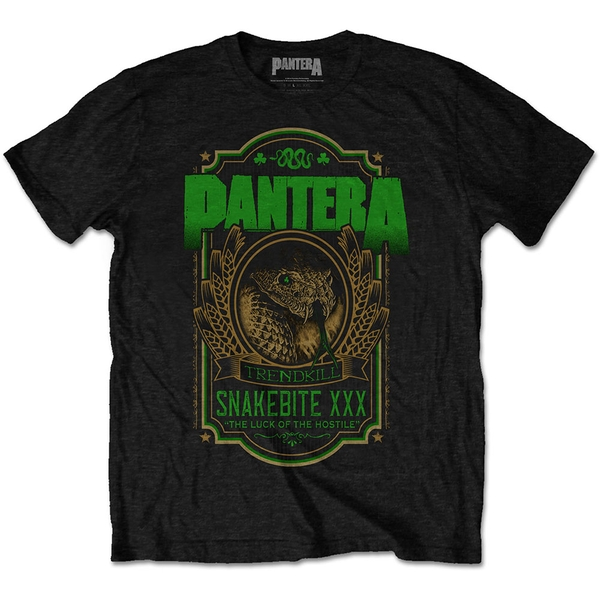 Pantera - Snakebite XXX Label Men's Large T-Shirt - Black