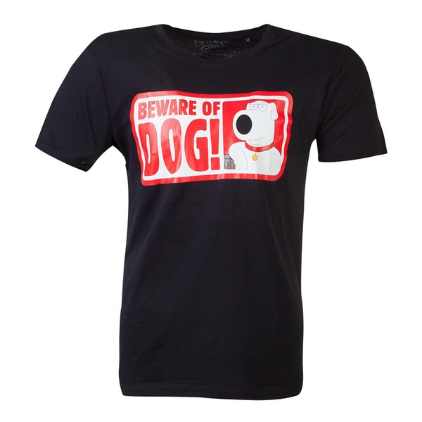 Family Guy - Beware Of Dog Men's Small T-Shirt - Black
