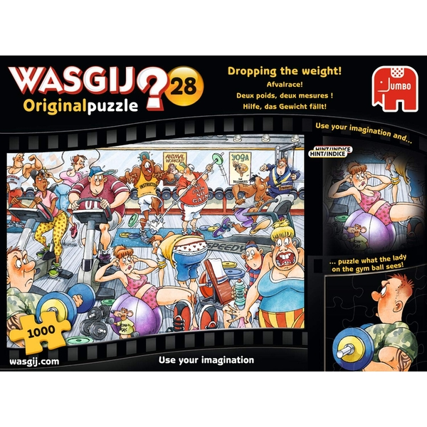 Jumbo Wasgij Original 28 - Dropping The Weight 1000 Piece Jigsaw Puzzle