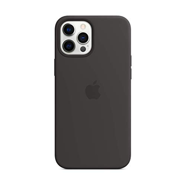 Apple Silicone Case with MagSafe (for iPhone 12 Pro Max) - Black