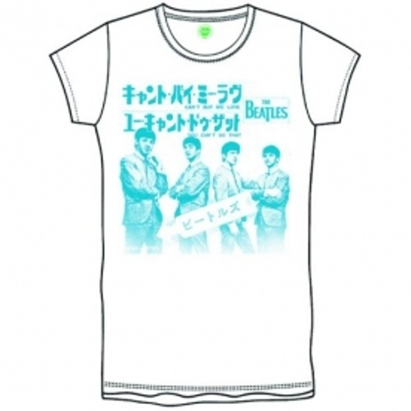 The Beatles Can t Buy Me Love Japan Boys White T-Shirt Small