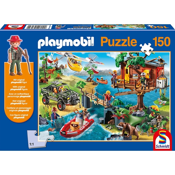 Playmobil Treehouse 150 pc Puzzle & Play Set (SO Only)