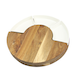 Acacia Round Cheese Board & Knives Set | M&W - Image 3