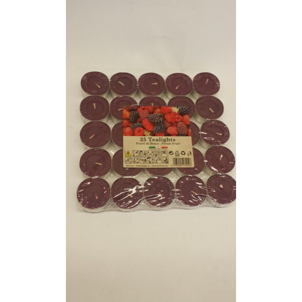 Price's Candles Tealights Pack 25 Mixed Berries
