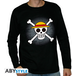 One Piece - Skull With Map Men's Large Long Sleeve T-Shirt - Black - Image 2