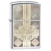 Zippo Harley Davidson Weaved Design Chrome Regular Windproof Lighter