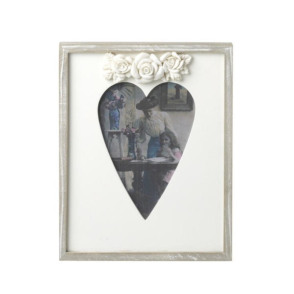 Wooden Frame With Heart Shape By Heaven Sends