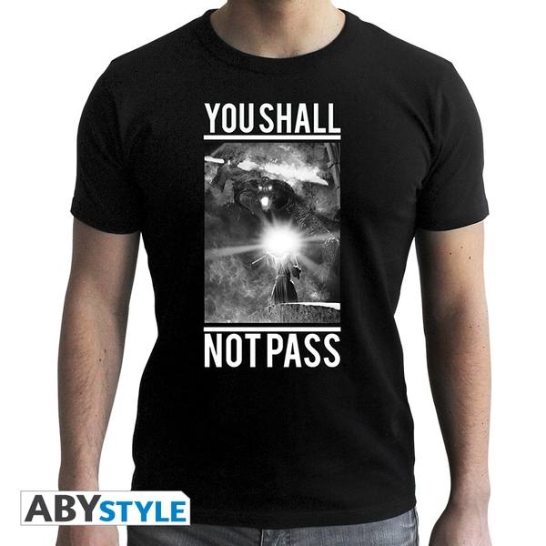 Lord Of The Rings - Not Pass Men's Small T-Shirt - Black