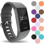YouSave Fitbit Charge 3 Silicone Strap - Large - Grey