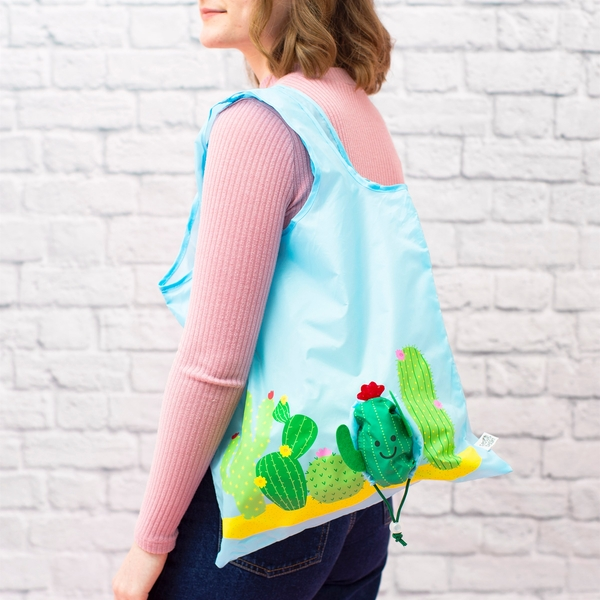 Sass & Belle Colourful Cactus Foldable Shopping Bag