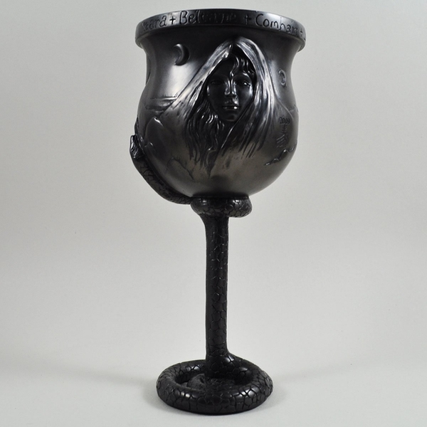 Witches Chalice Gunmetal Goblet 21.5cm