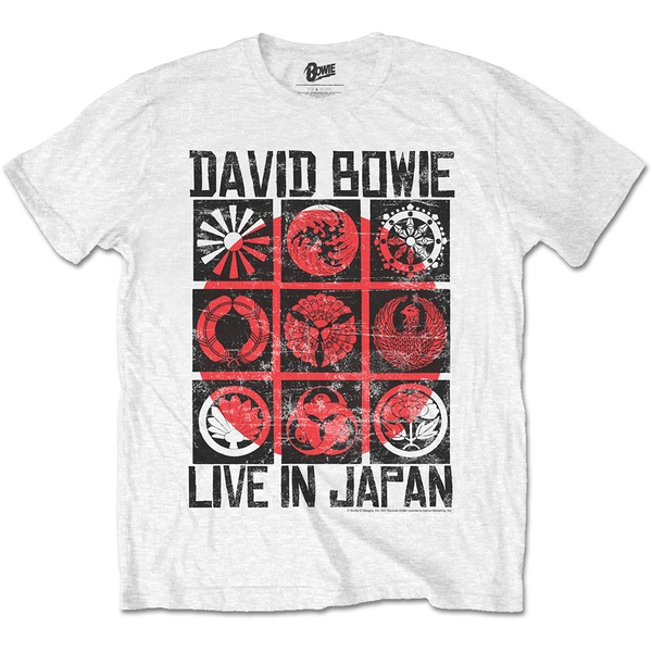 David Bowie - Live in Japan Unisex X-Large T-Shirt - White