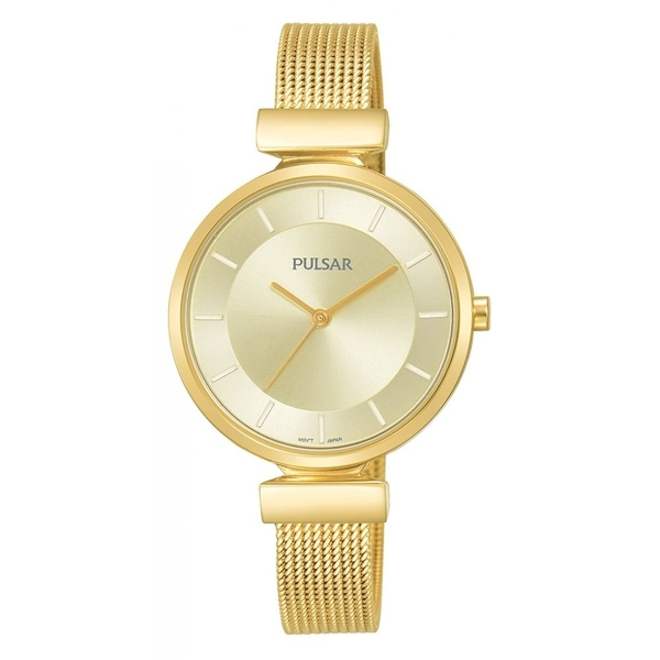 Pulsar PH8412X1 Ladies Gold Plated Mesh Bracelet 50M Watch