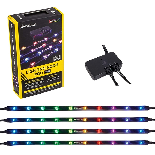Corsair CL-9011109-WW Lighting Node Pro RGB Lighting Controller with 4 Individually Addressable RGB LED Strips