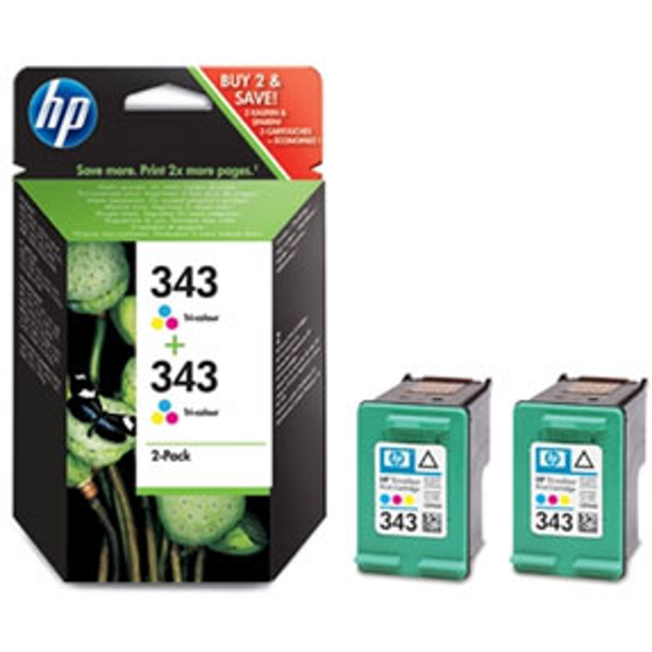 HP CB332EE (343) Printhead color, 330 pages, 7ml, Pack qty 2 - Image 2