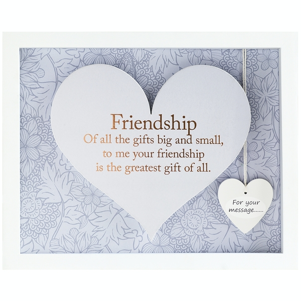 Said with Sentiment Rectangular Heart Frames Friendship
