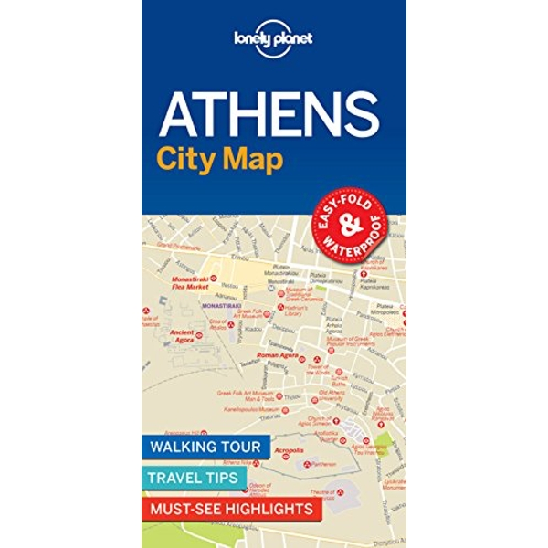 Lonely Planet Athens City Map  Sheet map, folded 2018