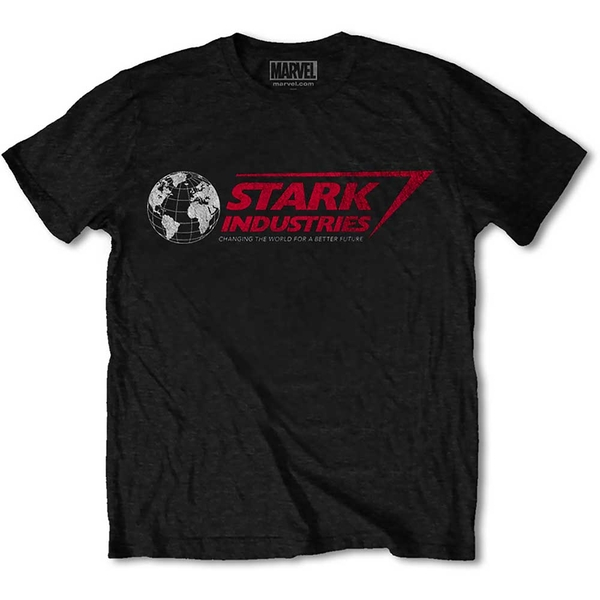 Marvel Comics - Stark Industries Unisex Large T-Shirt - Black