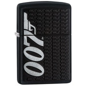 Zippo Unisex's James Bond 007 Logo Black Matte Windproof Lighter