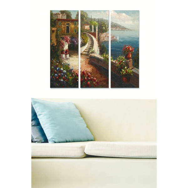 MDFDSCF7604 Multicolor Decorative MDF Painting (3 Pieces)
