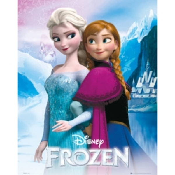 Frozen Anna And Elsa Mini Poster