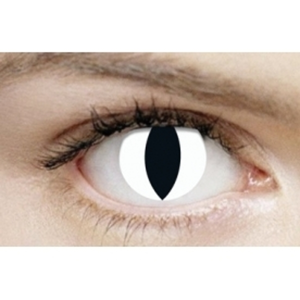 Snow Beast Wild White Cat 3 Month Halloween Coloured Contact Lenses (MesmerEyez XtremeEyez) - Image 1