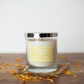 Lemon Zest (Pastel Collection) Glass Candle