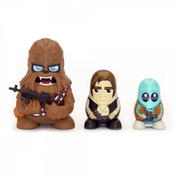 Chewbacca, Han Solo & Greedo (Star Wars) Chubby Collectable Russian Figurine Set
