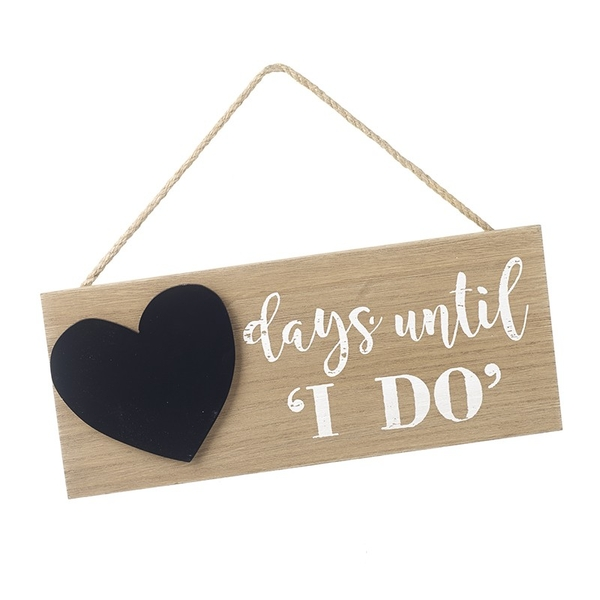 Days Until I Do Sign With Chalk Board By Heaven Sends