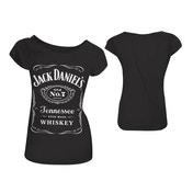 Jack Daniels Classic Old No.7 Brand Logo Women's Skinny Large Black T-Shirt
