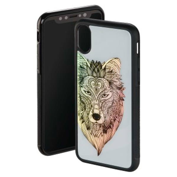 "Hama ""Akela"" Cover for Apple iPhone X, grey/black"