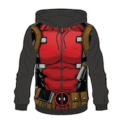 Deadpool - Sublimation Men's Large Full Length Zipper Hoodie - Multi-colour