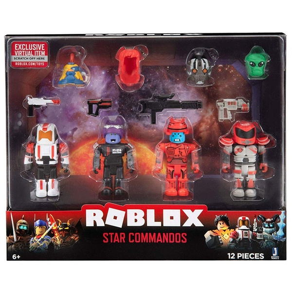 Star Commandos Mix & Match Roblox Figure 4 Pack Set