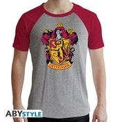 Harry Potter - Gryffindor Men's X-Large T-Shirt - Grey and Red