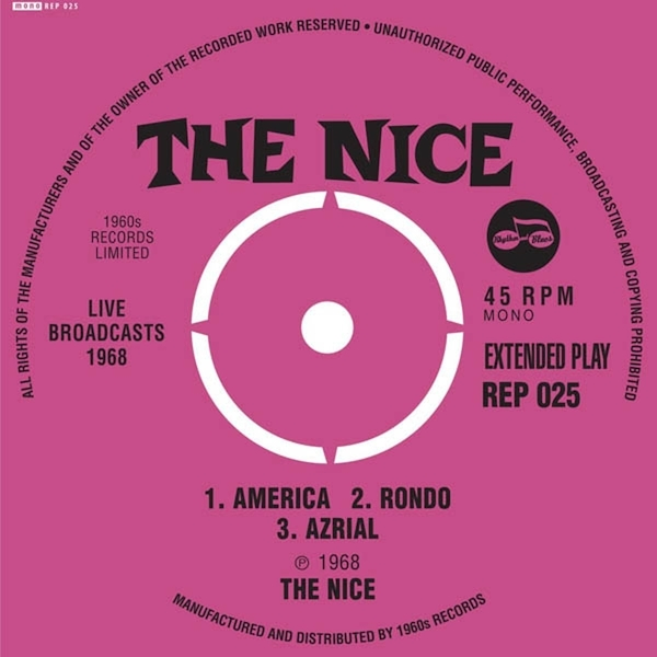 The Nice ‎– Live Broadcasts 1968 Vinyl