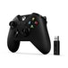 Official Microsoft Black Wireless Controller with Wireless Adapter V2 for Xbox One - Image 2