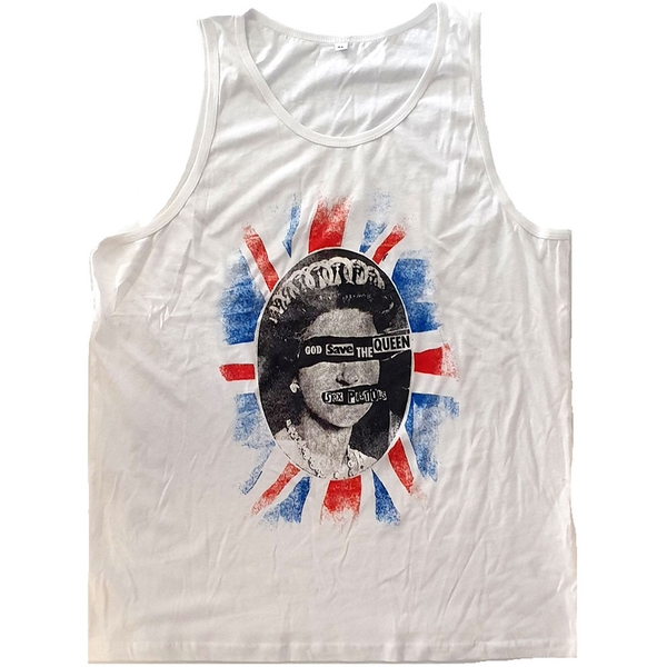 The Sex Pistols - God Save The Queen Unisex X-Large T-Shirt - White