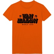 Van Halen - World Tour '78 Men's Large T-Shirt - Orange