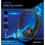 Gioteck XH50 Wired Mono Gaming Headset Blue (PS4/Xbox One/PC)
