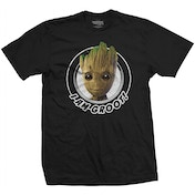 Guardians of the Galaxy Vol. 2 - Groot Circular Men's Large T-Shirt - Black
